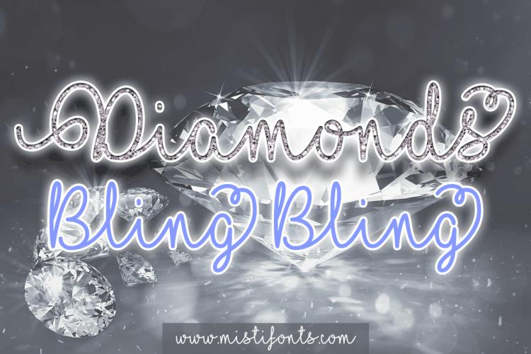 Diamond Bling font
