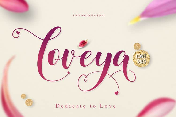 Loveya font