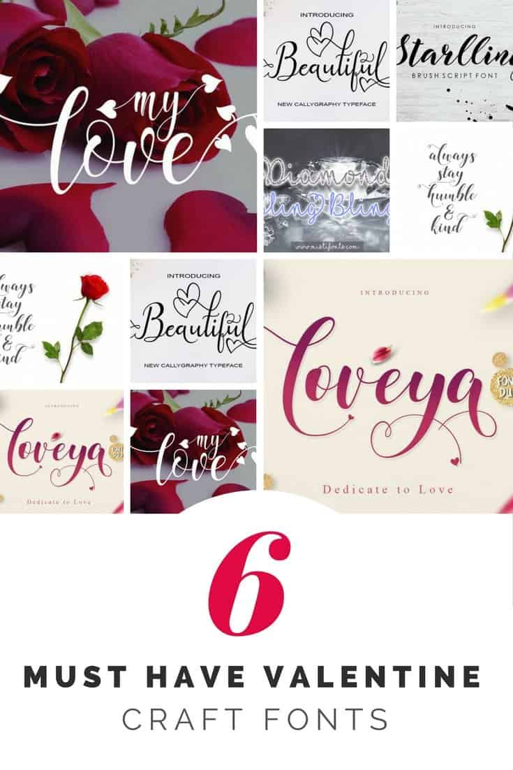 Valentine Fonts for DIY gifts