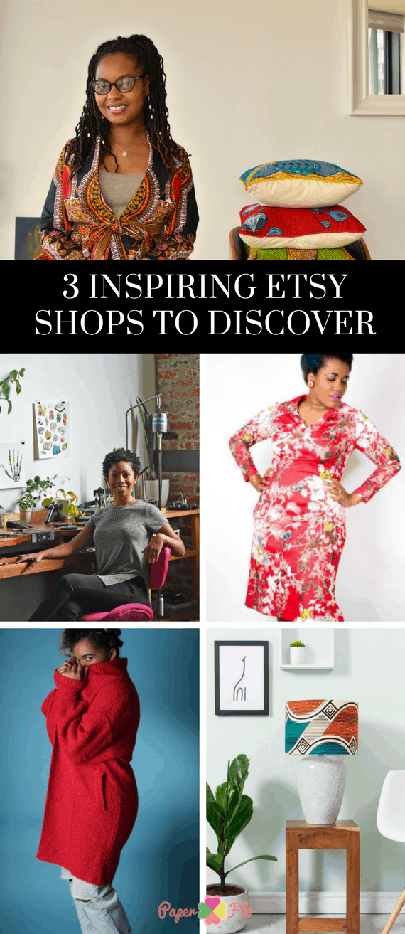 3 Inspiring Etsy Shops to Discover #paperflodesign #etsysellers