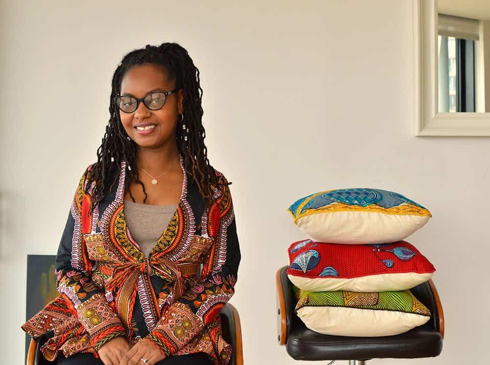 Natalie Manima, the London-based founder of vibrant handmade home goods line Bespoke Binny #paperflodesign #etsyseller