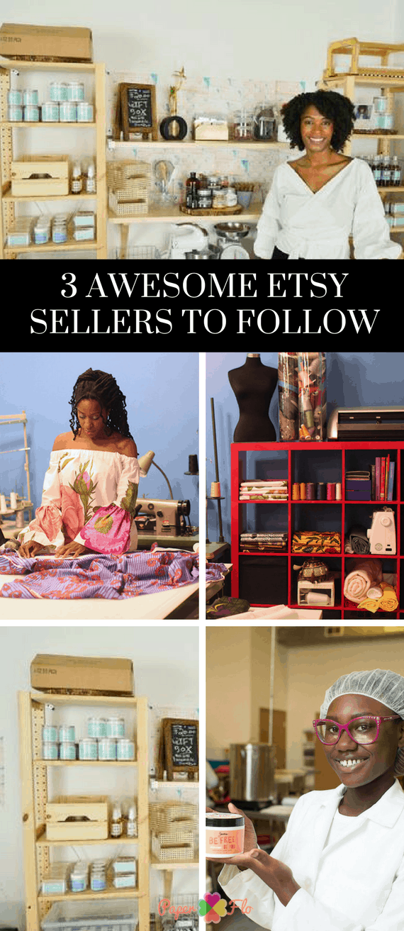 3 Awesome Etsy Sellers to Follow Check out these 3 awesome Etsy sellers that are combining their hand crafted skills and entrepreneurship talents and running successful shops #etsybusiness #paperflodesign #etsyshopideas #craftbusiness #craftbusinessideas