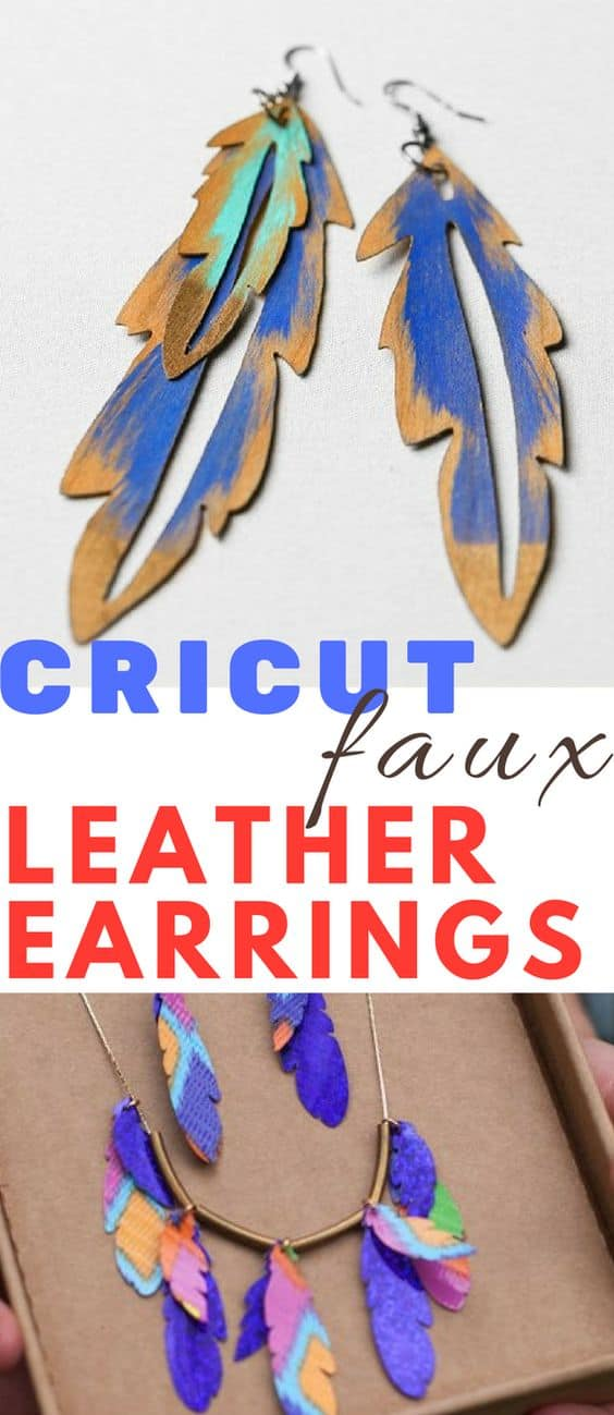 DIY Cricut Faux Leather Earrings