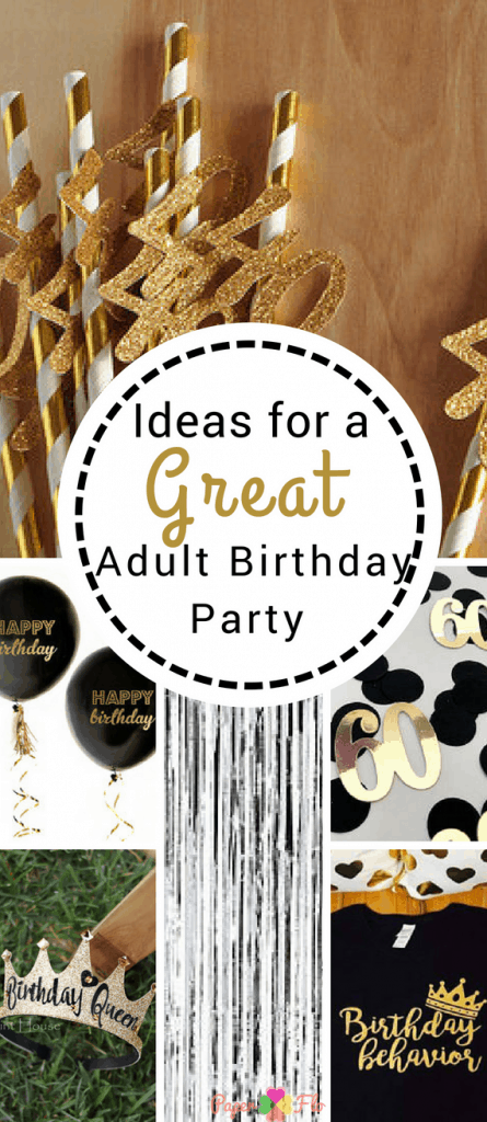 ideas for a great adult birthday party