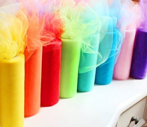 rainbow tulle fabric
