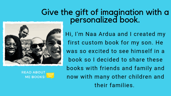 Give the gift of imagination with a personalized book. About the family of Read About Me Books