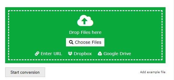 file converter choose upload options