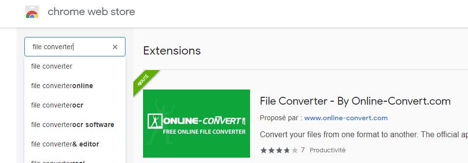 file converter chrome web store