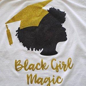 Black Girl Magic graduation t-shirt