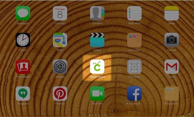 Cricut Design Space app for IPad