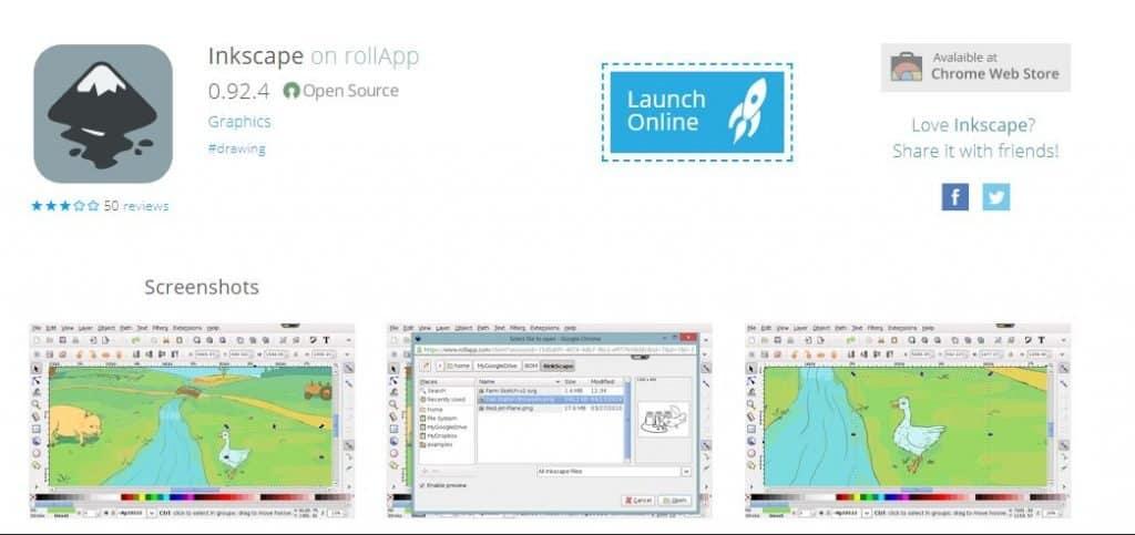Inkscape rollApp