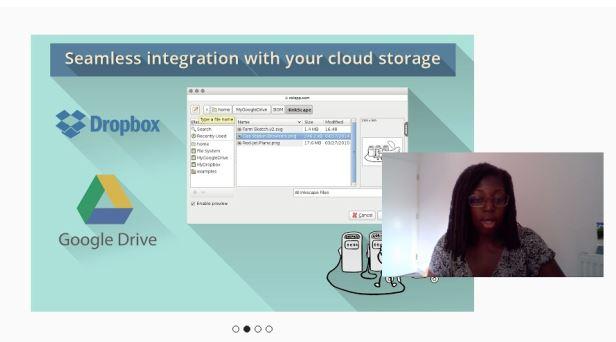 inkscape on rollapp dropbox storage