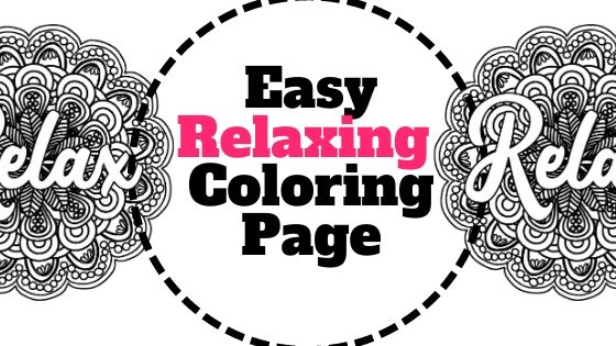 Relaxing Coloring Page - Free Printable Adult Coloring Sheet - Paper Flo  Designs